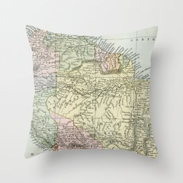 South America Vintage Map Throw Pillow