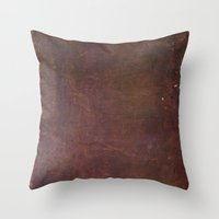 leather Throw Pillows featuring Leather by Jason Michael