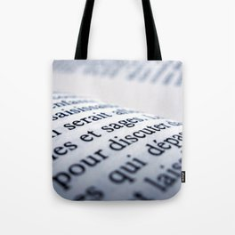 French Book Tote Bag