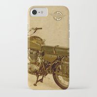 ducati iPhone & iPod Cases featuring Ducati vintage background by Larsson Stevensem