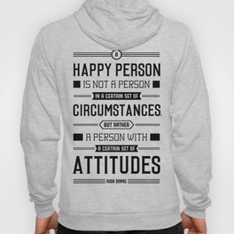 Lab No. 4 A Happy Person Is Not Hugh Downs Motivational Quote Hoody