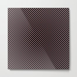 Black and Nostalgia Rose Polka Dots Metal Print