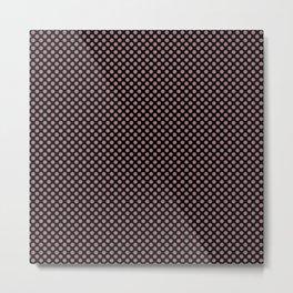 Black and Nostalgia Rose Polka Dots Metal Print