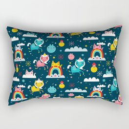 Space Unicorn Rectangular Pillow