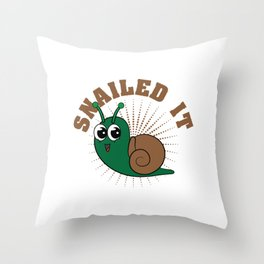"Looking for a cute tee design that's perfect gift this holiday? Grab this ""Snailed it"" tee now!  Throw Pillow"