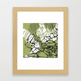 Army Green Wings Framed Art Print