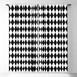 Black and White Harlequin Wonderland Pattern C15 Alice in Illustration Blackout Curtain