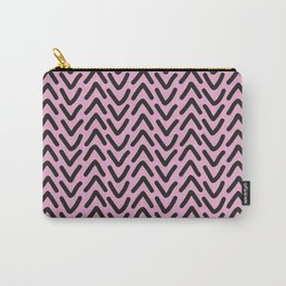 chevron pink rose Carry-All Pouch