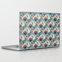 fantasy Laptop & iPad Skins featuring Oriental FanTasy by Paula Belle Flores