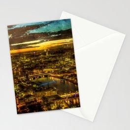 london-panorama-city-night-view Stationery Cards