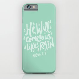 Hosea 6: 3 x Mint iPhone Case