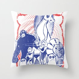 the herculoids Throw Pillow