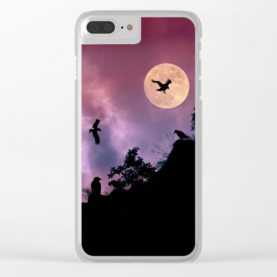 Crow meeting Clear iPhone Case