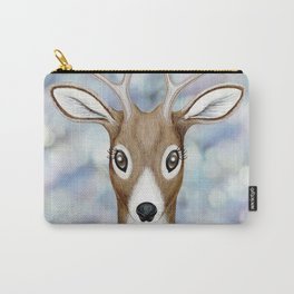 white-tailed deer woodland animal portrait Carry-All Pouch