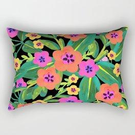Bold black floral 2 Rectangular Pillow