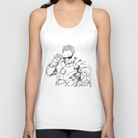 tony stark Tank Tops featuring Iron Man (Tony Stark) by  Steve Wade ( Swade)