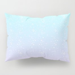 Turquoise and Lavender Pastel Bokeh Effect Ombre Pillow Sham