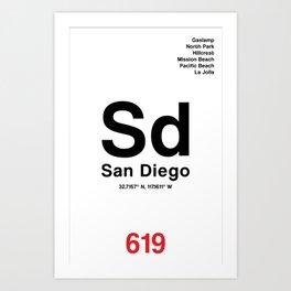 San Diego City Poster Art Print