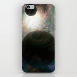 Colorful Dancers in Space iPhone Skin