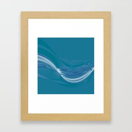 Blue Wave Abstract Framed Art Print