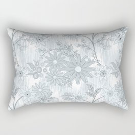 Delicate floral pattern in pastel colors. 2 Rectangular Pillow