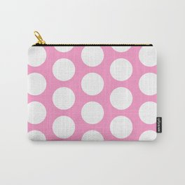 White circles on pink Carry-All Pouch