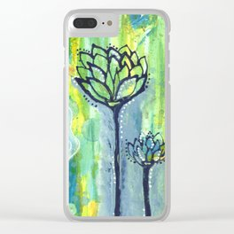 """""""Vibrant life"""" Clear iPhone Case"""