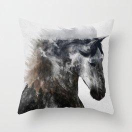 Proud Stallion alt. version Throw Pillow
