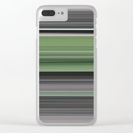 Olive green and grey Clear iPhone Case