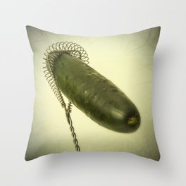 The meeting / El encuentro Throw Pillow