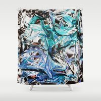 metallic Shower Curtains featuring Metallic by Lara Gurney