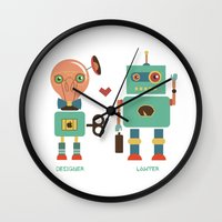 lawyer Wall Clocks featuring Robotic Love by akaink