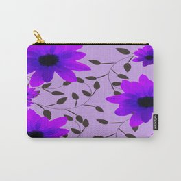 Purple Flowers and Vines Carry-All Pouch