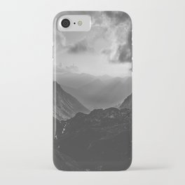 Valley - black and white landscape photography iPhone Case