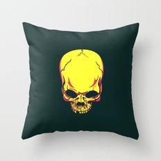 neon skull. Throw Pillow