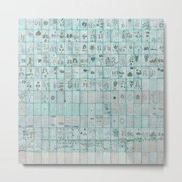 The Complete Voynich Manuscript - Blue Tint Metal Print