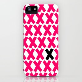 X Marks The Spot in Hot Pink iPhone Case