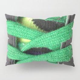 Green shoe laces Pillow Sham