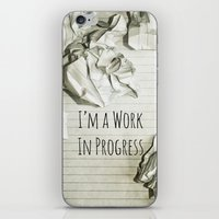 decal iPhone & iPod Skins featuring I'm A Work In Progress by Charlene McCoy