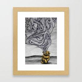 "Slow, Bellowing ""no."" Framed Art Print"