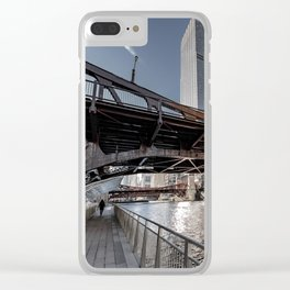 Exploring the Chicago River-Walk Clear iPhone Case
