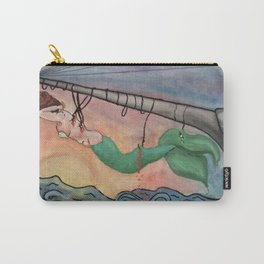 mermaid on hooks by Lilly Hibbs Carry-All Pouch