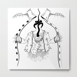 Cossack roots Metal Print