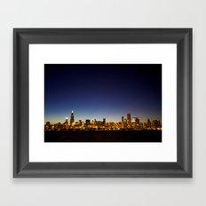 Chicago Sunset Framed Art Print