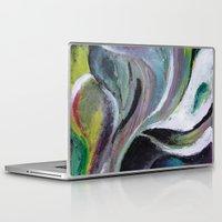 reassurance Laptop & iPad Skins featuring Art print- swirl by Magdalena Hristova