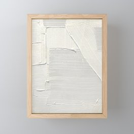Relief [2]: an abstract, textured piece in white by Alyssa Hamilton Art Framed Mini Art Print