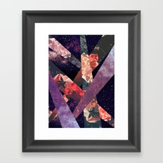 ROSES IN THE GALAXY Framed Art Print