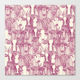 just cattle cherry pearl Canvas Print