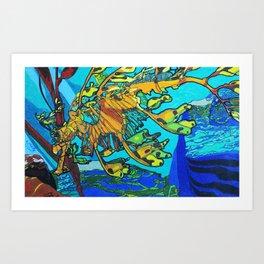 Amazing Seahorse Art Print