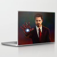 tony stark Laptop & iPad Skins featuring Art Of Tony Stark Iron Man by Andrian Kembara